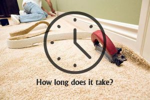 how long does carpet installation take