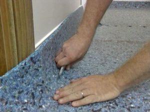 how to install carpet padding